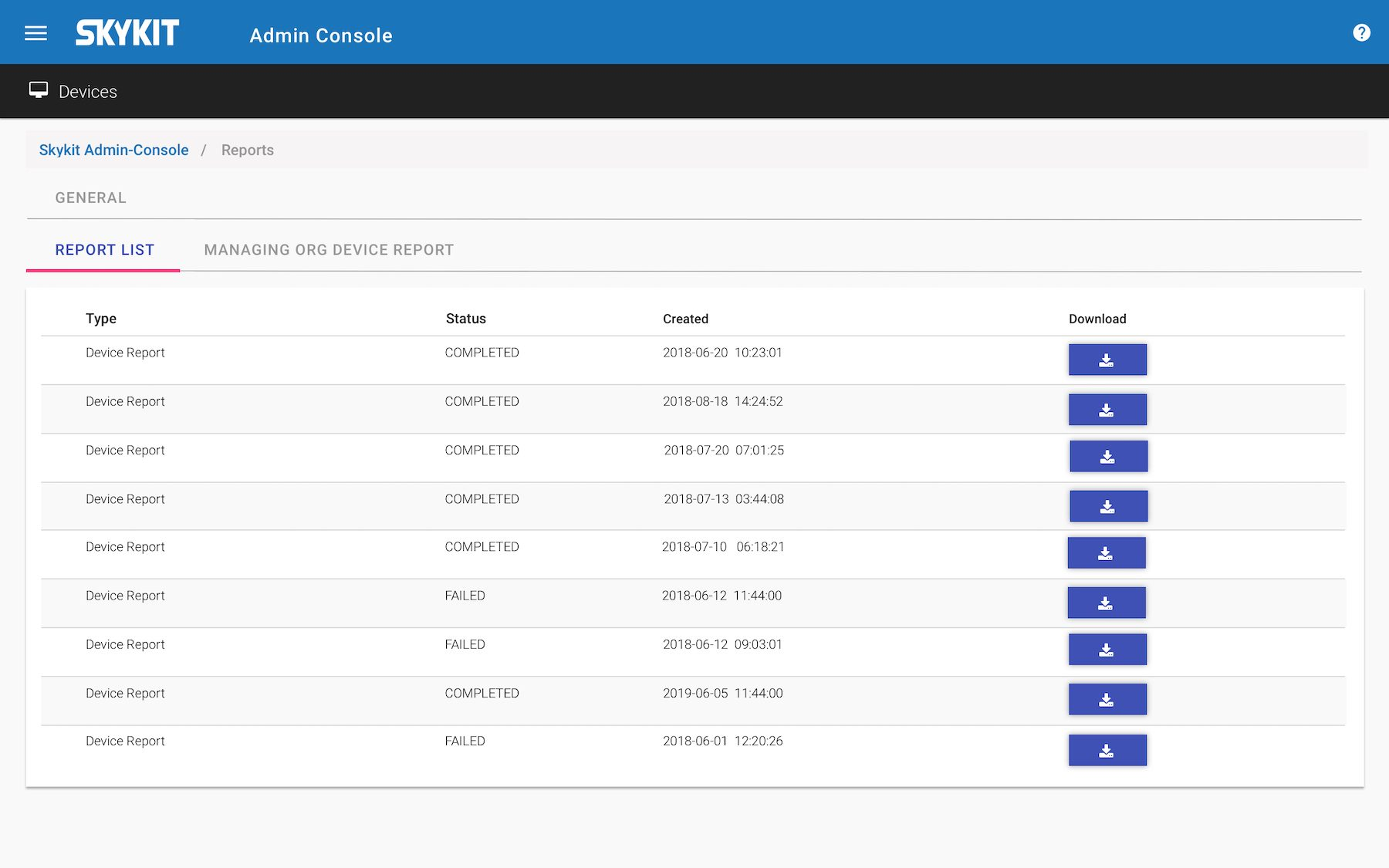 Enterprise: Corporate Rize Admin Console Reports 1
