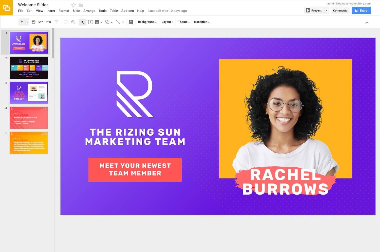 CDW: Corporate Rize Google Slides 1