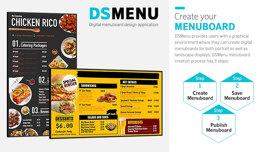 Five Amazing Tools to Easily Create Compelling Digital Signage Content: DS Menu