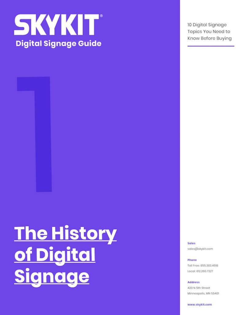 Skykit Digital Signage Guide the history of digital signage