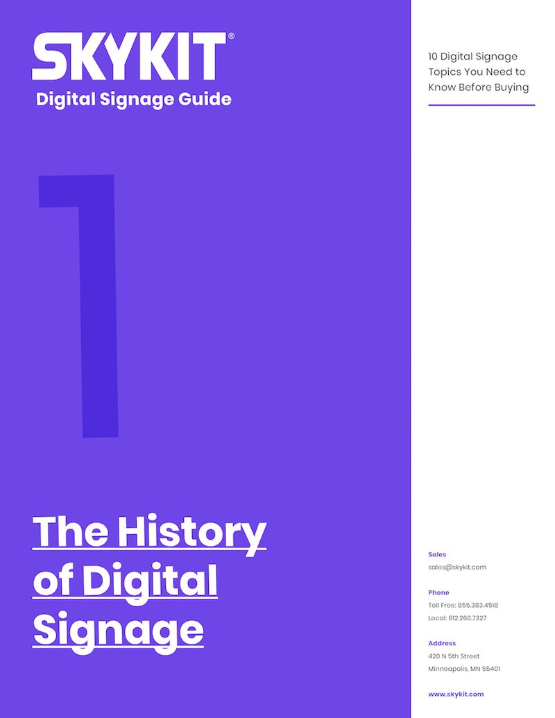 the history of digital signage