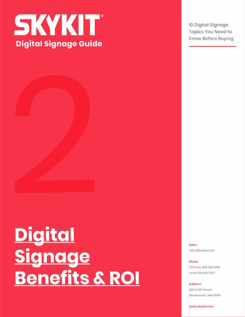 digital signage benefits and roi