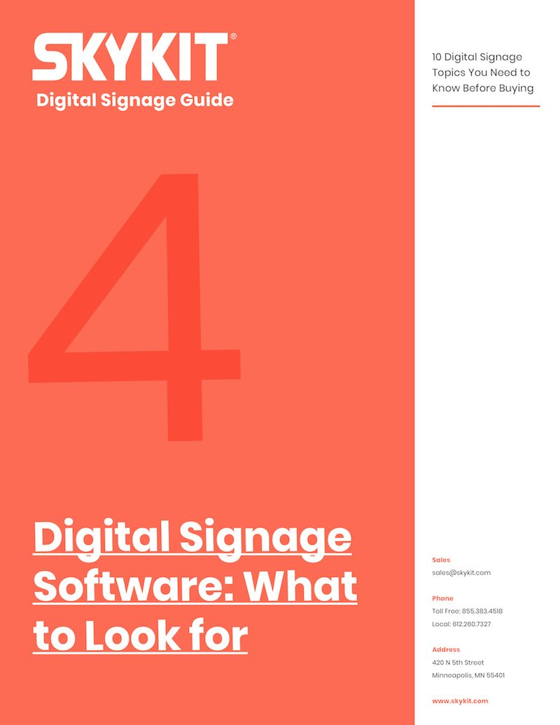 skykit digital signage software - what to look for