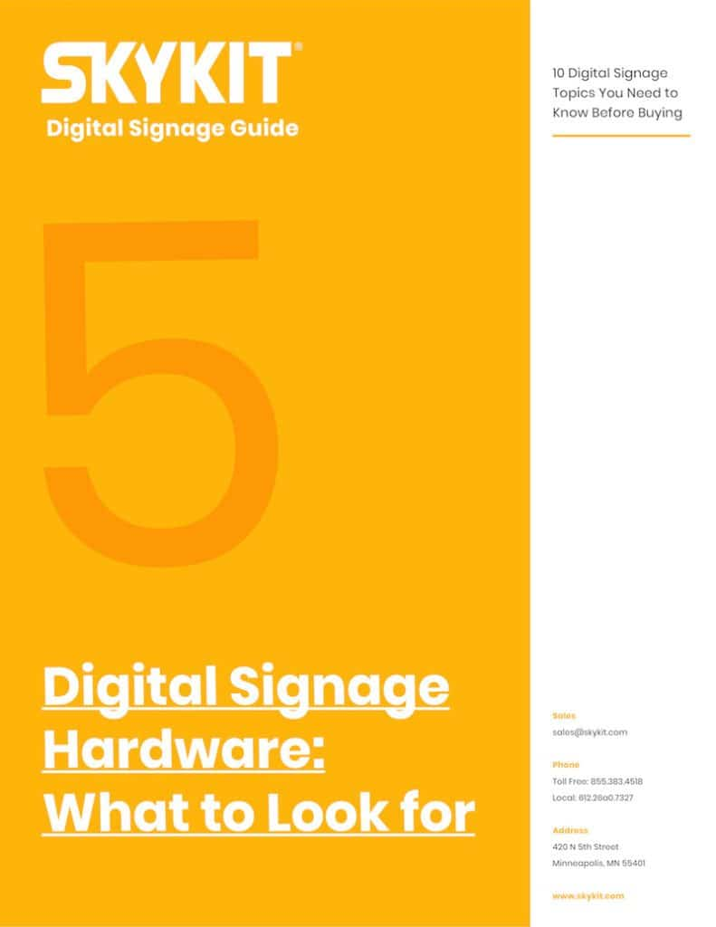 skykit digital signage hardware