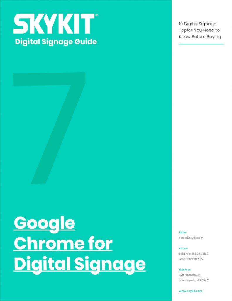 skykit google chrome for digital signage