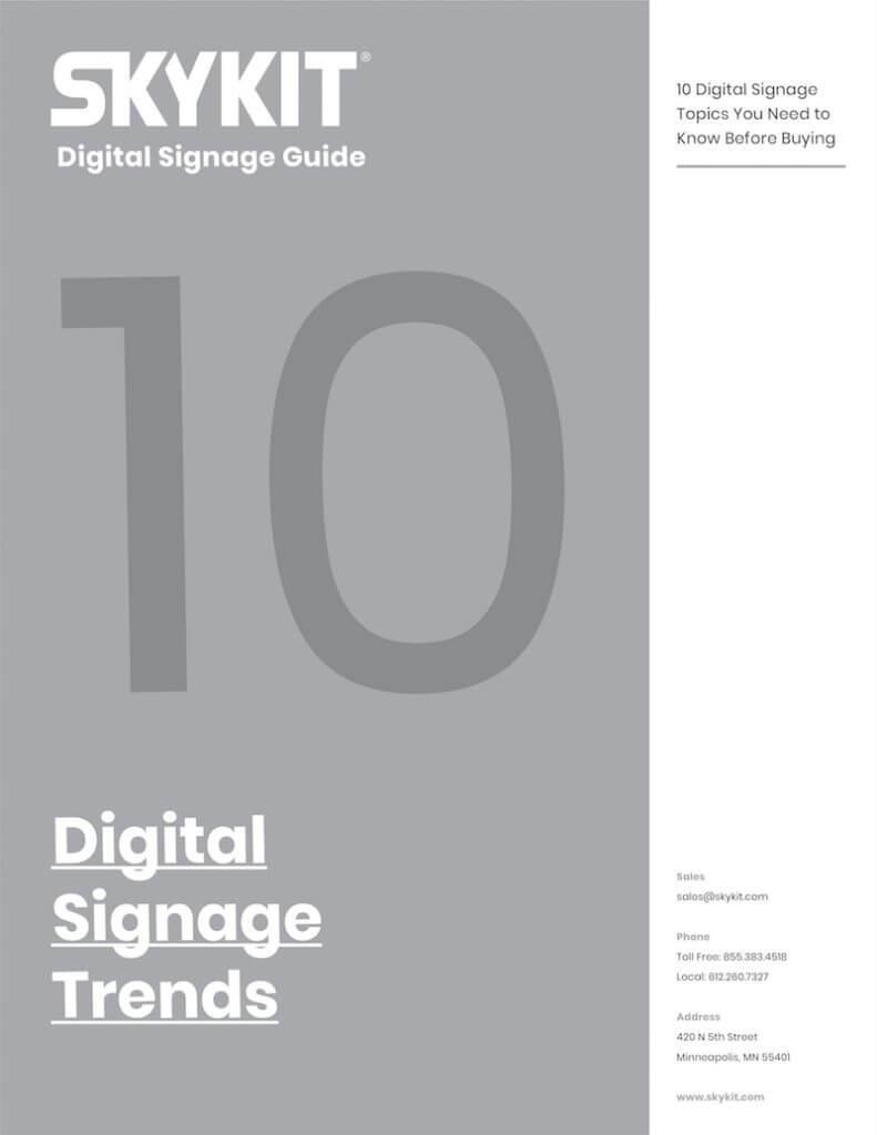 skykit digital signage guide digital signage trends