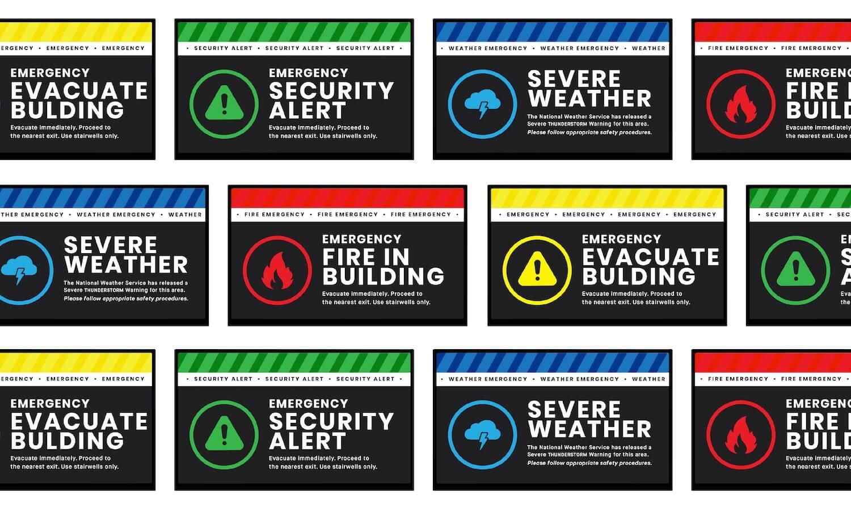 digital signage emergency examples