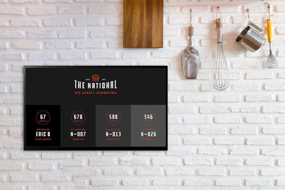 digital signage in kitchen