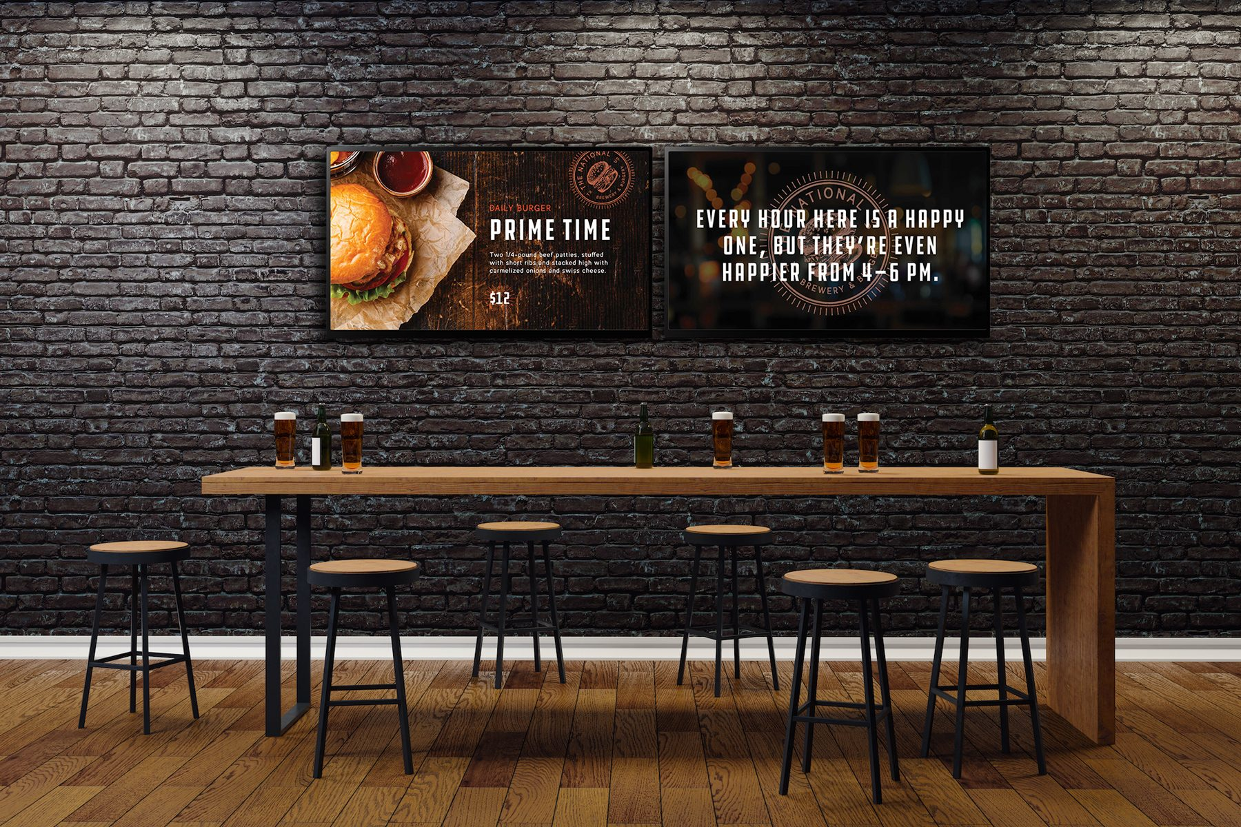 digital signage in brewery