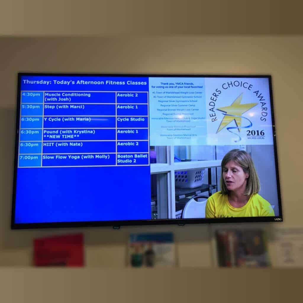 Skykit Beam Digital Signage Content Management Solution Case Study - YMCA