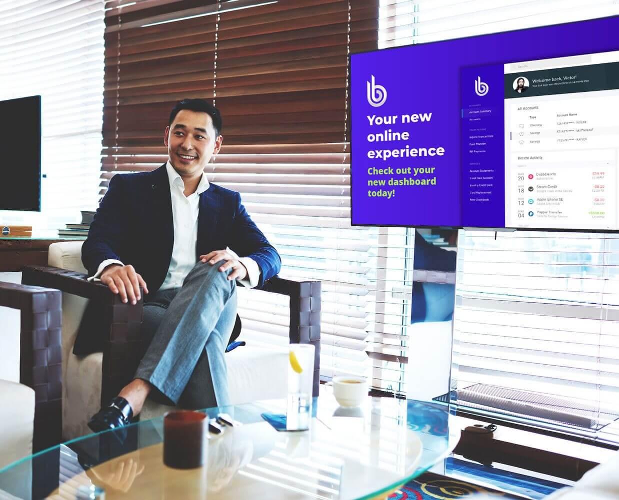 digital display in office example