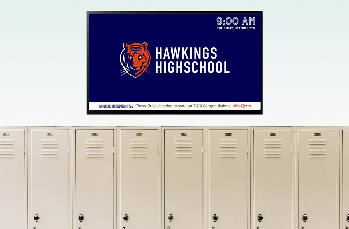 digital signage example education