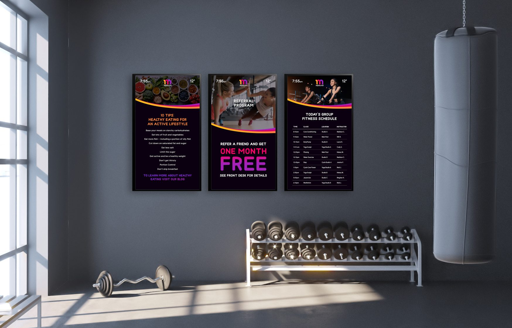 gym signs made easy by Skykit