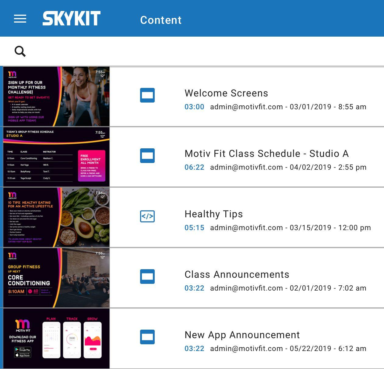 Motiv Fit powered by Skykit