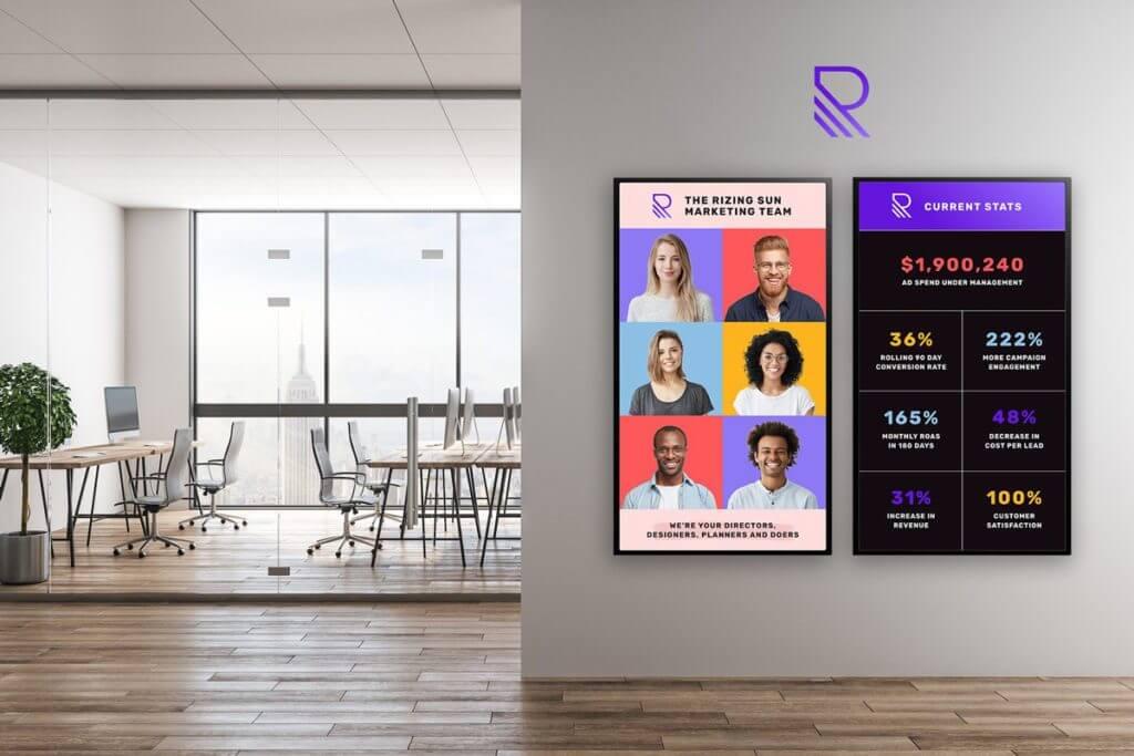 corporate digital signs by Skykit