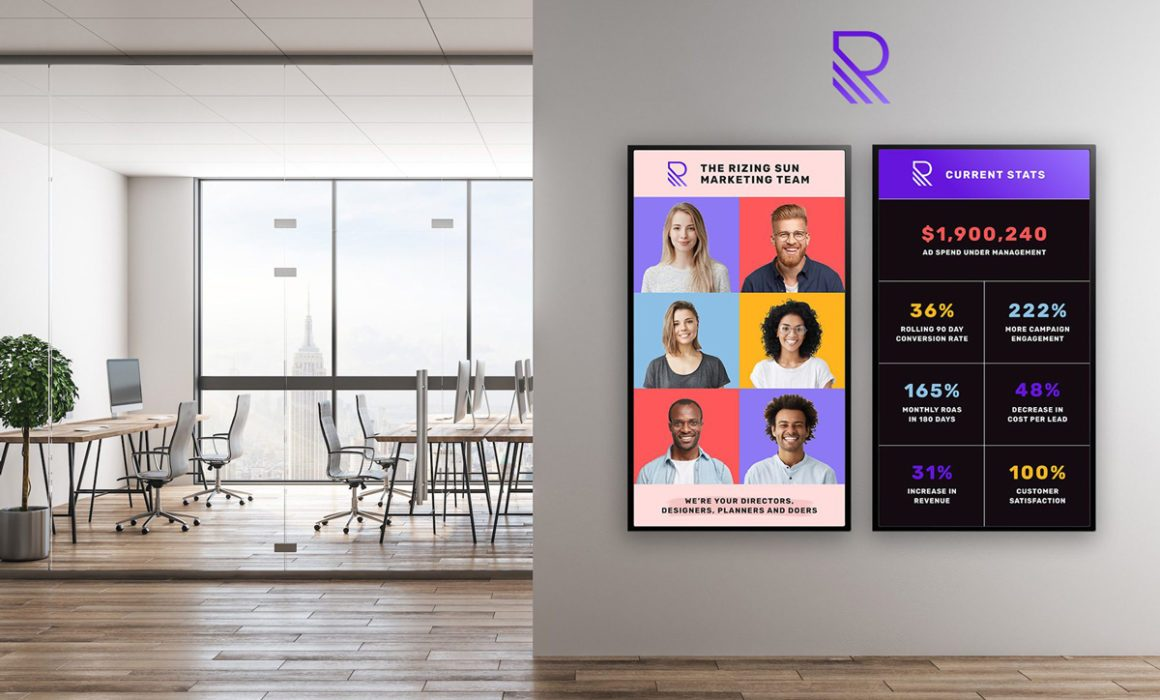 corporate digital signs by Skykit
