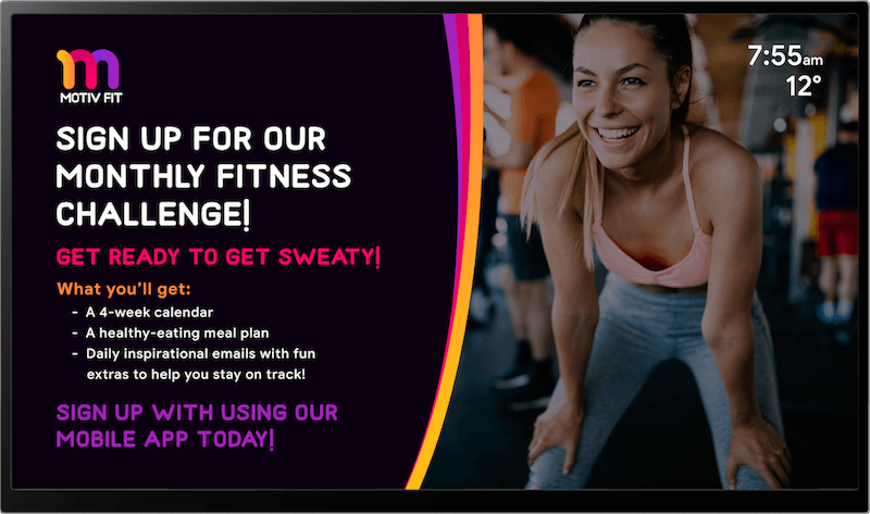 gym signs and design by Skykit