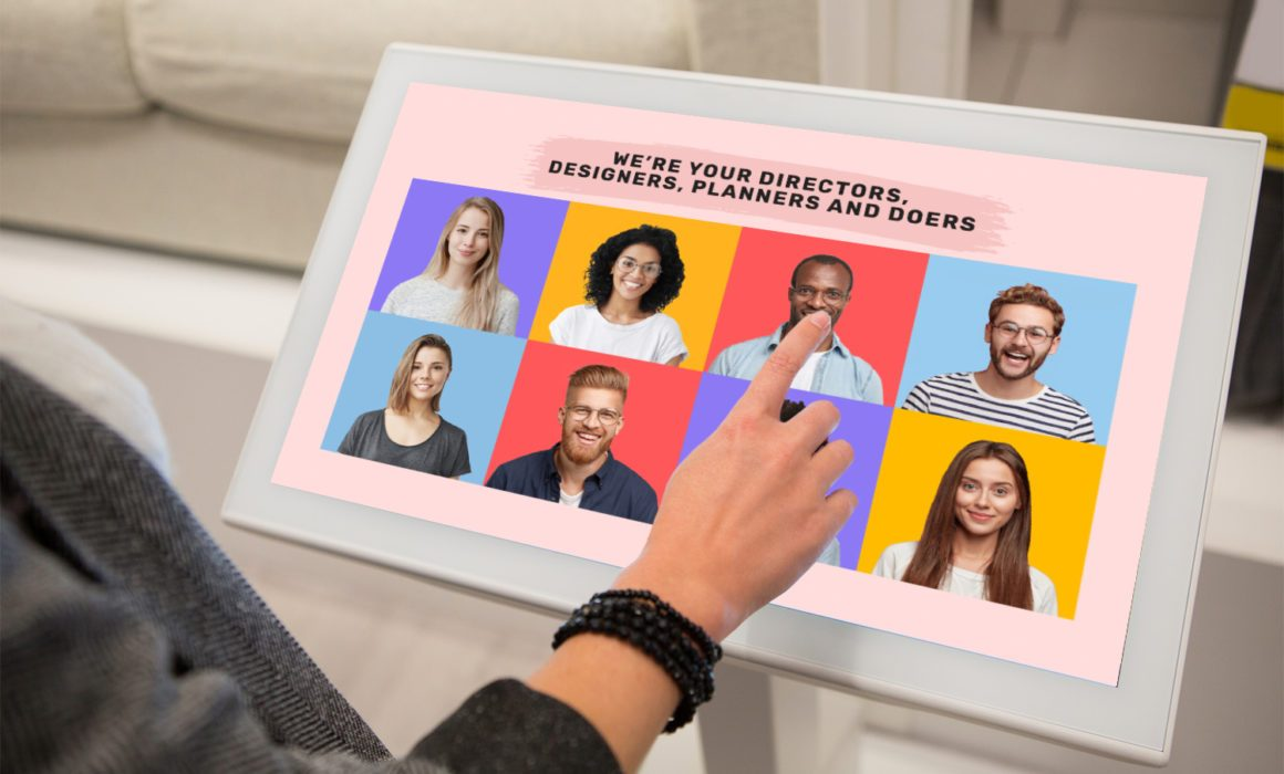 digital signage at a kiosk