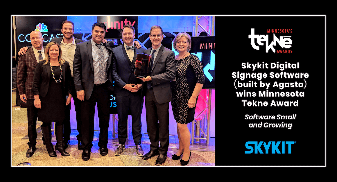 Agosto Wins Software Award for Skykit at 2018 Tekne Awards: Skykit Tekne Awards Winner Facebook 1160x628 1