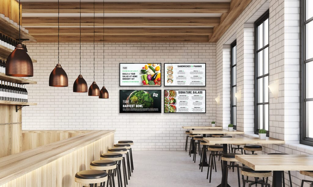 3 Ways Digital Signage Is Helping Businesses Fight Back: Skykit Beam Digital Signage USA Today America Renewed Publication Beam for Food Services 1