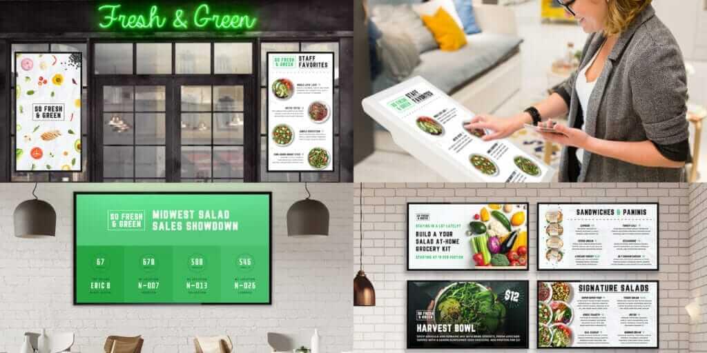 digital menu boards for food trucks, digital signage for restaurants