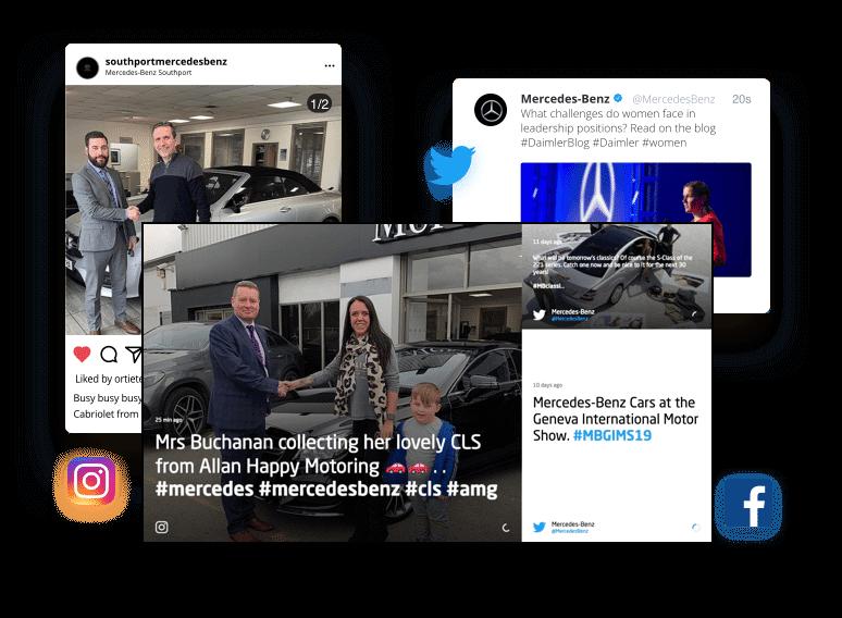 Skykit Beam Digital Signage Content Management - Social Media Feeds (Facebook, Twitter, LinkedIn)