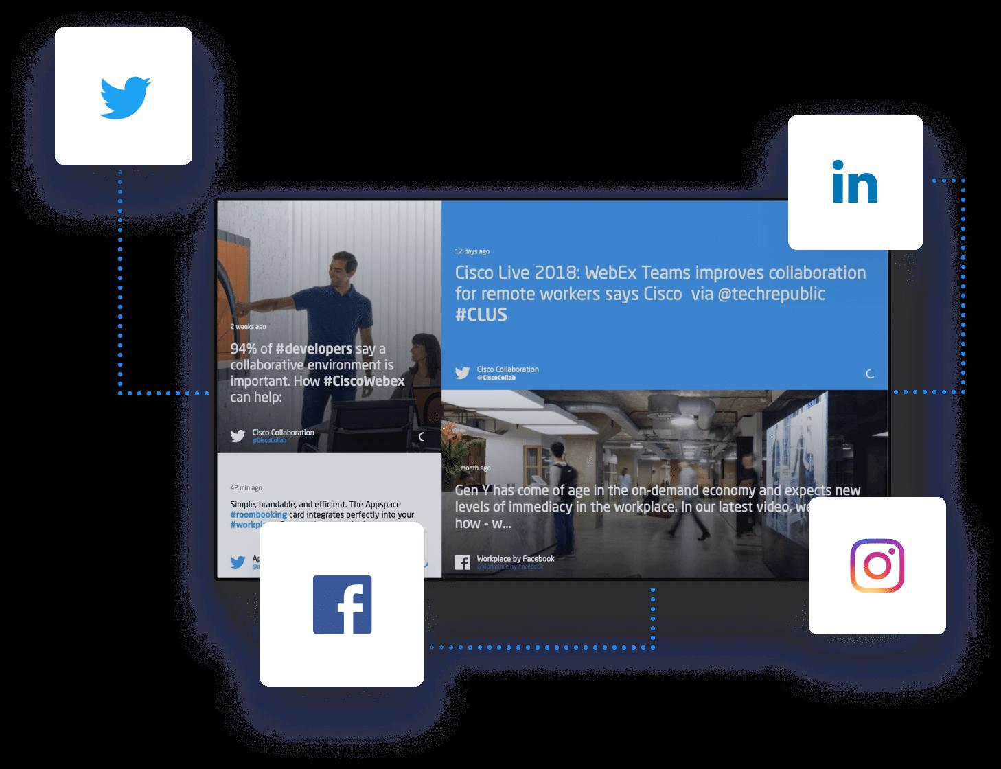 Social Media Feeds: Skykit Digital Signage Social Media Feeds Seenspire 2