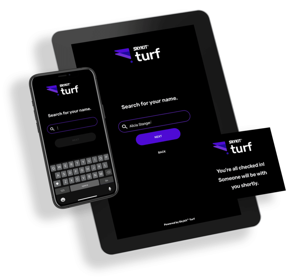 Skykit Turf Employee and Guest Check-In Software Solution
