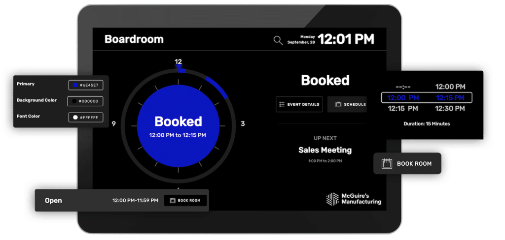 Skykit Turf Space Booking, Meeting Room, and Space Manager for Manufacturing
