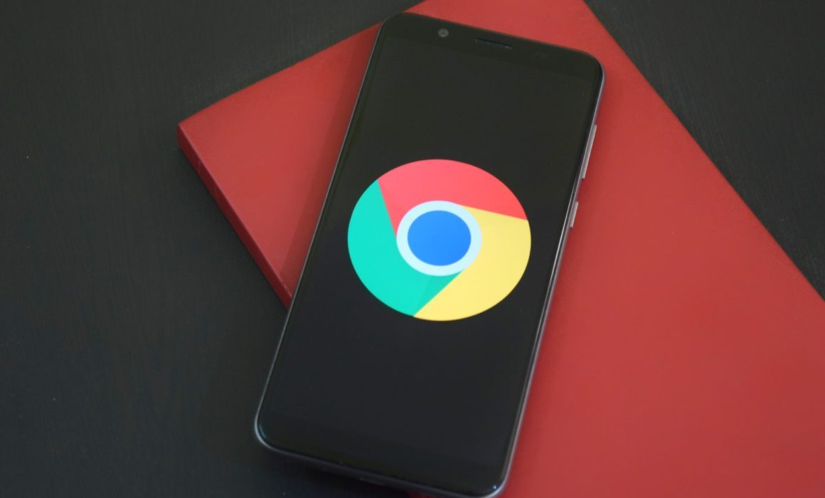 google chrome logo on phone
